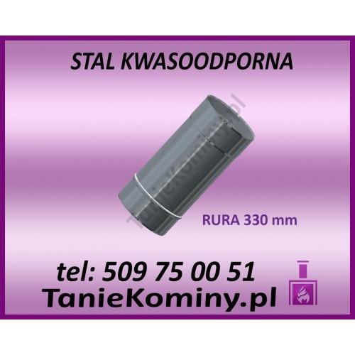 RURA OKRĄGŁA KWASOODPORNA Ø 113 L250 mm GAZ / OLEJ OPAŁOWY
