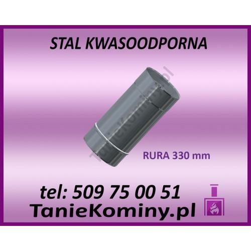 RURA OKRĄGŁA KWASOODPORNA Ø 120 L250 mm GAZ / OLEJ OPAŁOWY