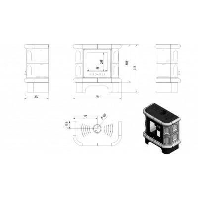 WK 440 kafel czarny  6