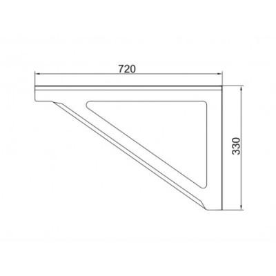 Wsporniki trójkątne do komina dwuściennego WSP-G L500 Ø 250 (komplet 2 szt.)