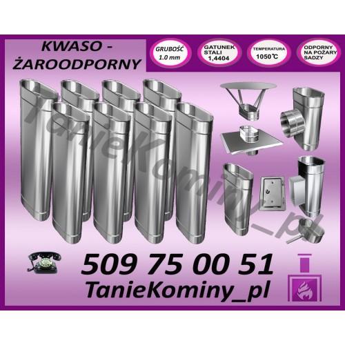 PAKIET 9 m KOMIN OWALNY 100x160 kwaso-żaroodporny
