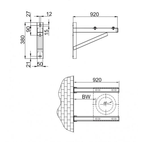 Wspornik Podparty WSP L820   Ø 450