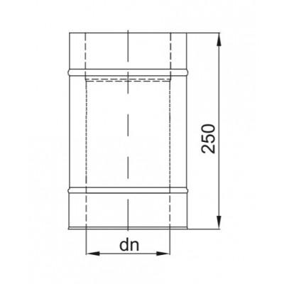 Rura dwuścienna Ø 130 L - 250 mm