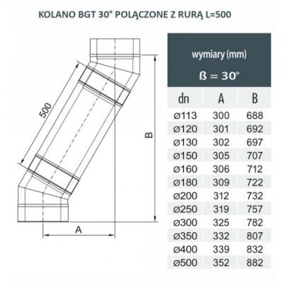 Rura dwuścienna Ø 180 L - 500 mm