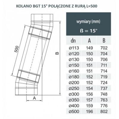 Rura dwuścienna Ø 200 L - 500 mm