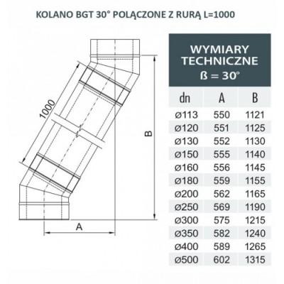 Rura dwuścienna Ø 113 L - 1000 mm