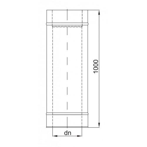 Rura dwuścienna Ø 140 L - 1000 mm