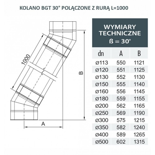 Rura dwuścienna Ø 250 L - 1000 mm