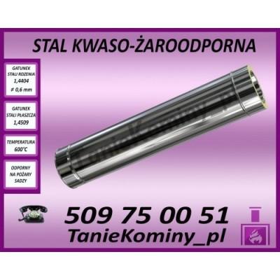Rura dwuścienna Ø 250 1000 mm