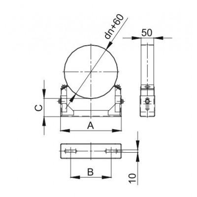 Obejma konstrukcyjna przestawna Ø 80