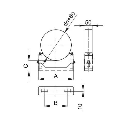 Obejma konstrukcyjna przestawna Ø 100
