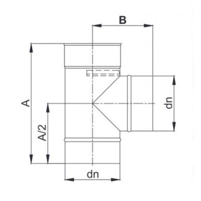 Trójnik 87° Ø 140