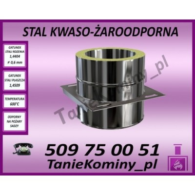 Płyta kotwowa przelotowa dwuścienna Ø 250