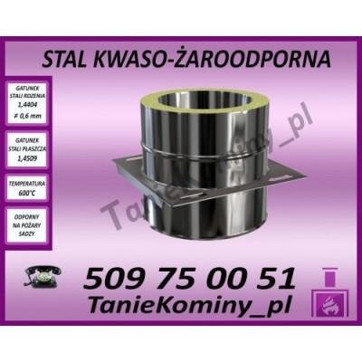 Płyta kotwowa przelotowa dwuścienna Ø 350