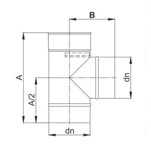 Trójnik 87° Ø 350