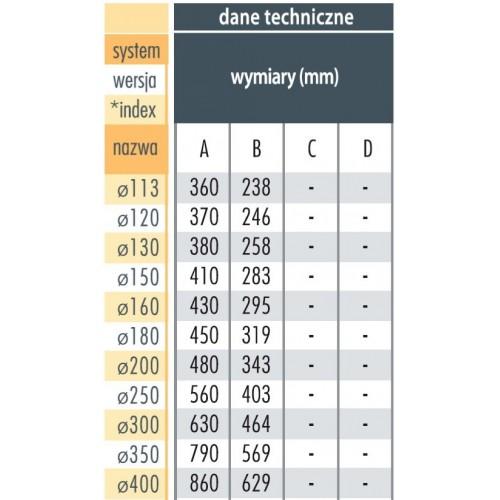 Trójnik 45° Ø 150