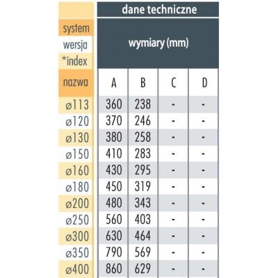 Trójnik 45° Ø 160